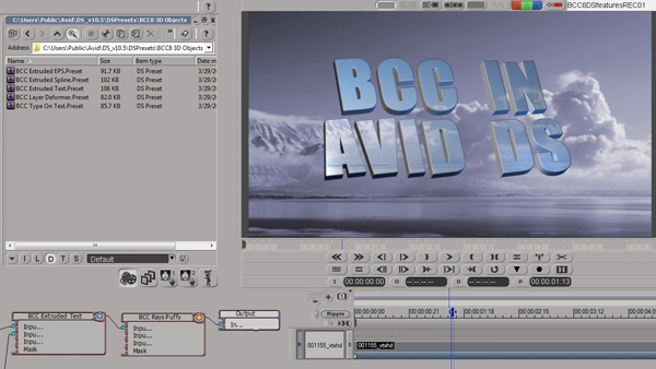 BCC AVX for Avid DS