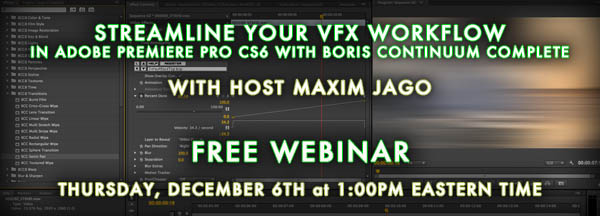 Streamline Your VFX Workflow in Adobe Premiere Pro CS6