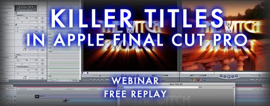 Boris FX | Killer Titles in Apple Final Cut Pro