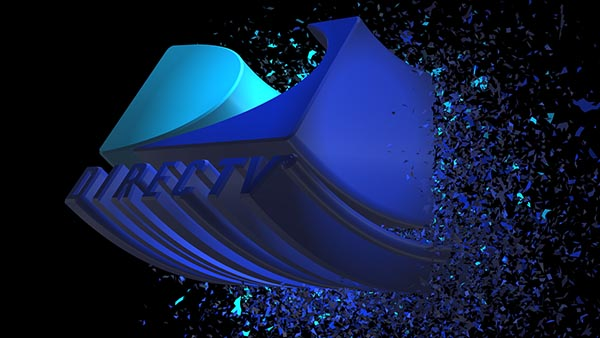 3D Extruded EPS logo shatter