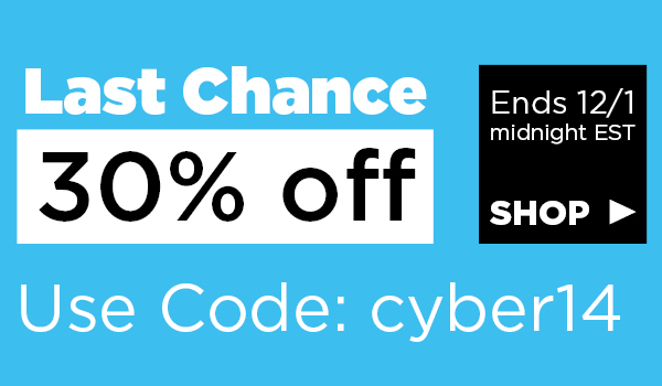Cyber Monday: Save 30%